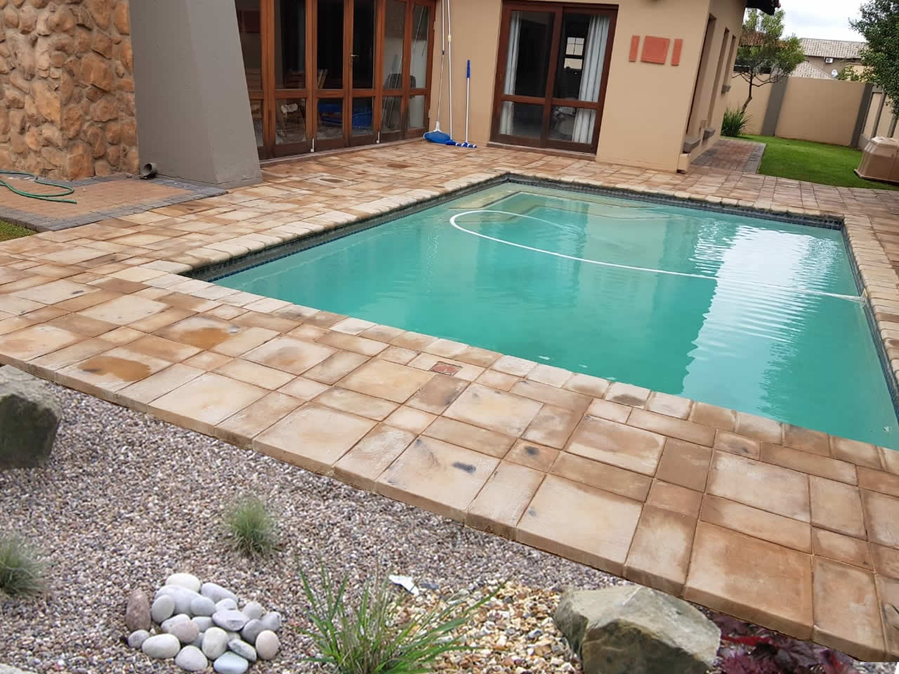 Pool Copings and Full, half and quarter paving blocks