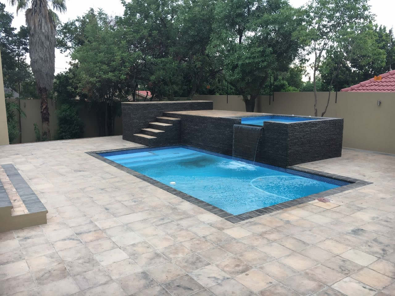 Cement strip cladding bullnose and cop