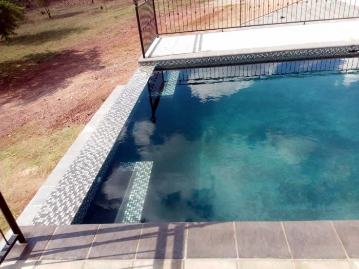 Copings paving for swimming pool