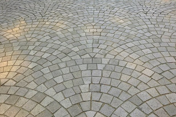 European fan paving pattern